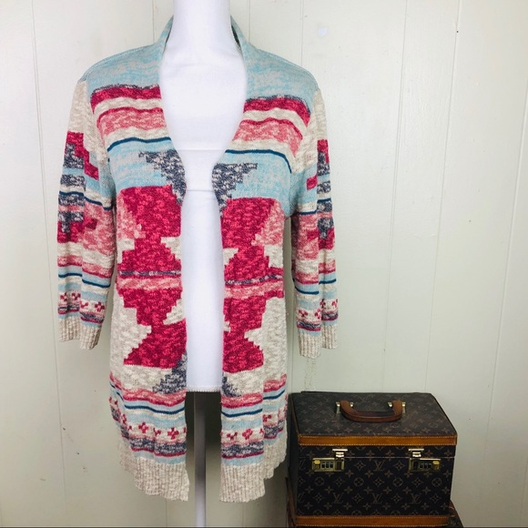 Sonoma Aztec Cardigan Sweater Jrs XL
